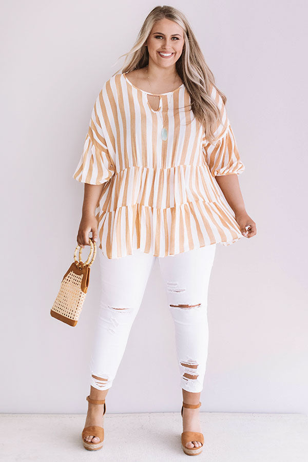 Take Me To Turks Shift Top In Primrose Yellow