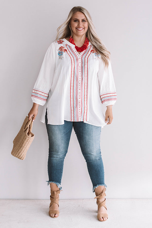 Bermuda Bliss Embroidered Top