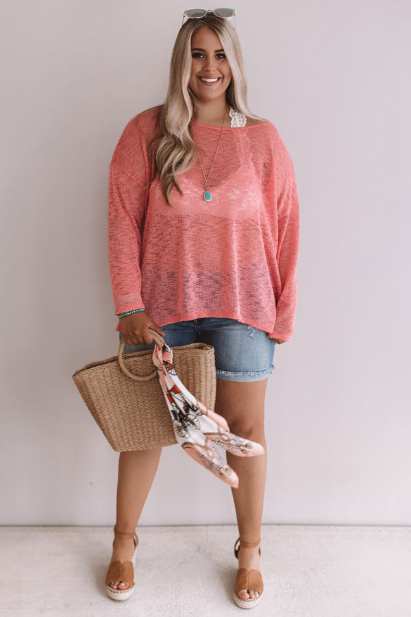 Summer Nights Knit Sweater In Calypso