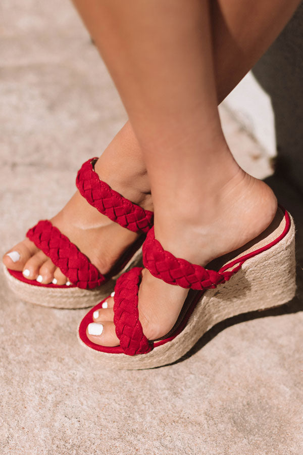 The Karleigh Wedge In Red