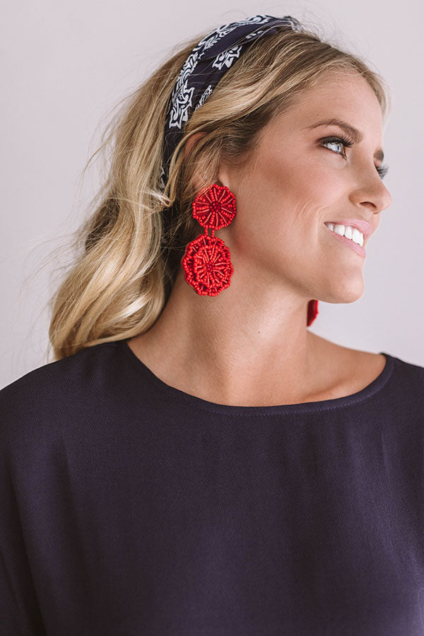 Seeking Santorini Earrings In Red