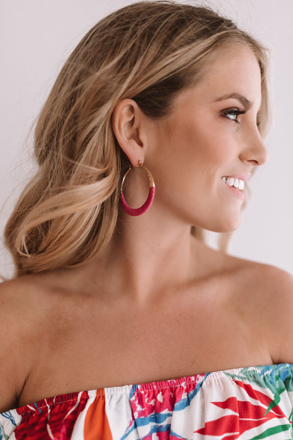 Margarita Meet-Up Earrings In Fuchsia