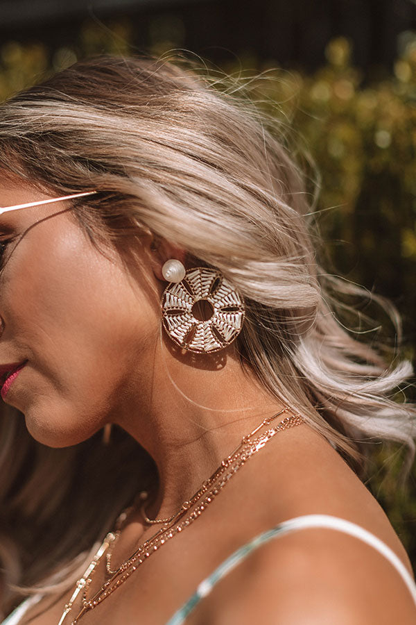 Lost In Paradise Earrings In Ivory