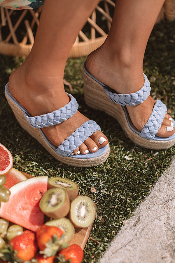 The Karleigh Wedge In Sky Blue