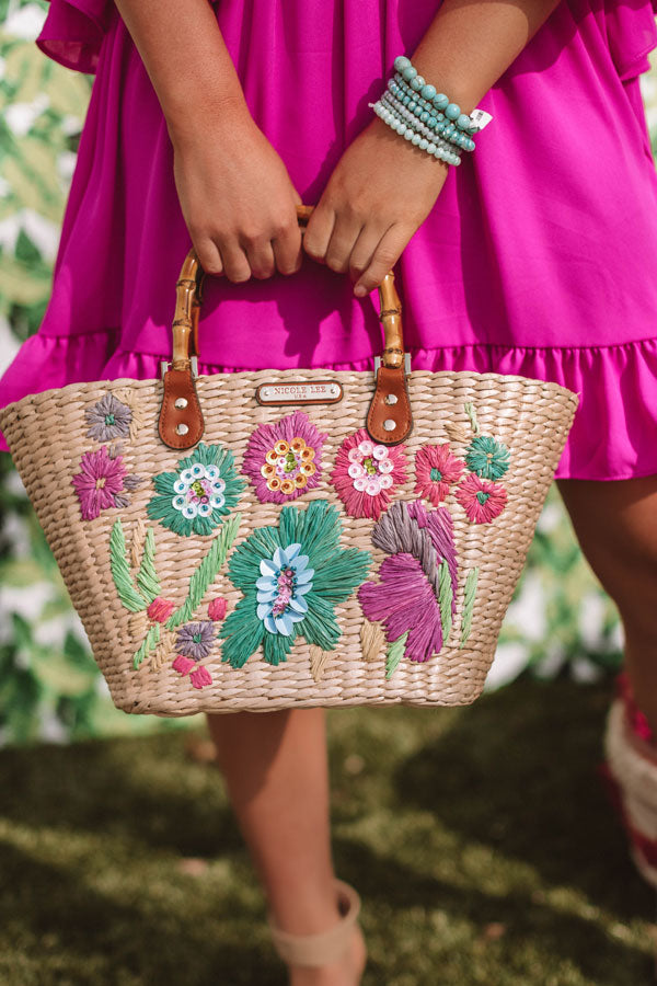 Flower Bomb Woven Tote