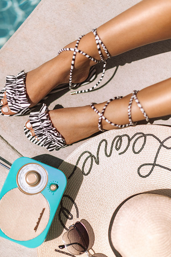 The Roxanne Wrap Up Sandal In Zebra Print
