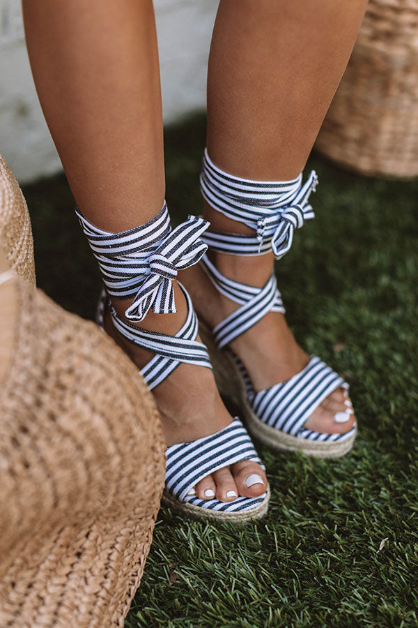 The Millie Stripe Wedge