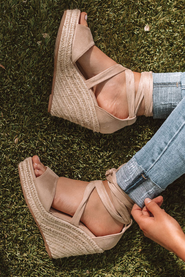 The Millie Wedge In Iced Latte