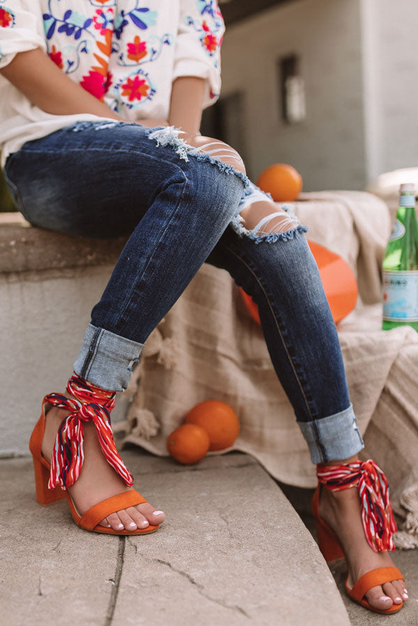 The Chandler Heel In Orange