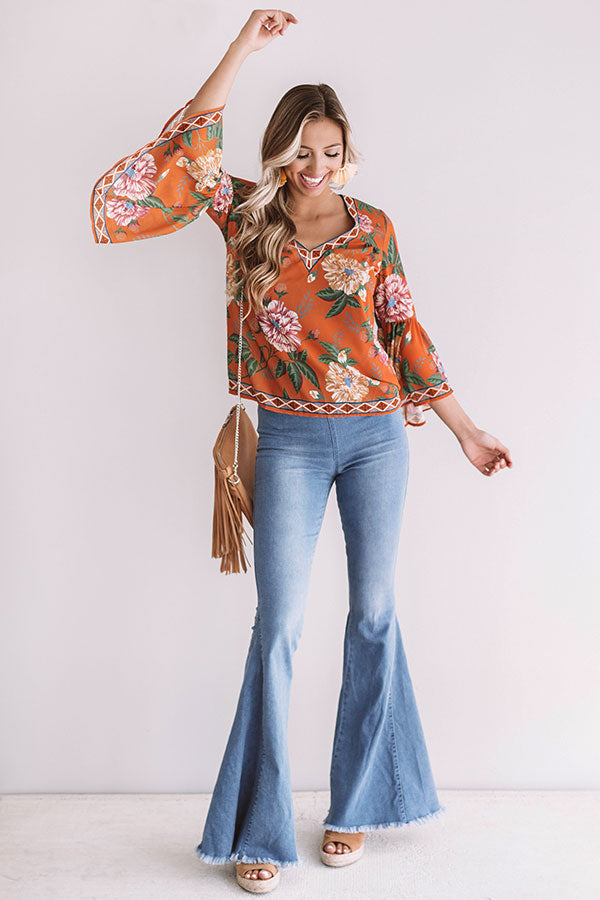 Tropical Oasis Shift Top
