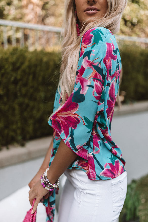 Malibu And Mimosas Floral Top