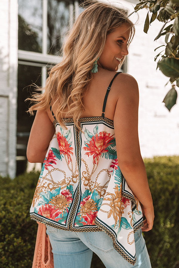 f0100b1e880db Sunshine and Smiles Floral Tank in Ivory • Impressions Online Boutique
