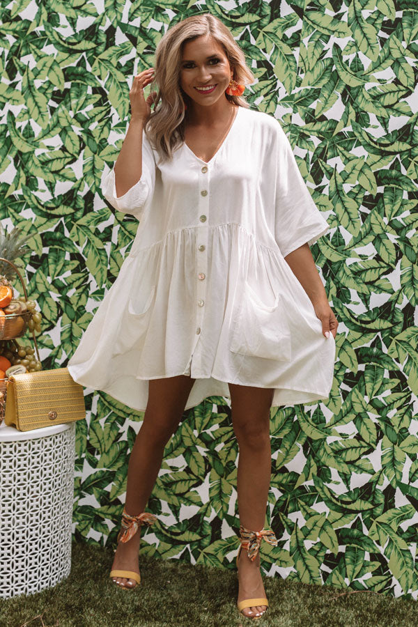 Sweet Summertime Babydoll Tunic In White