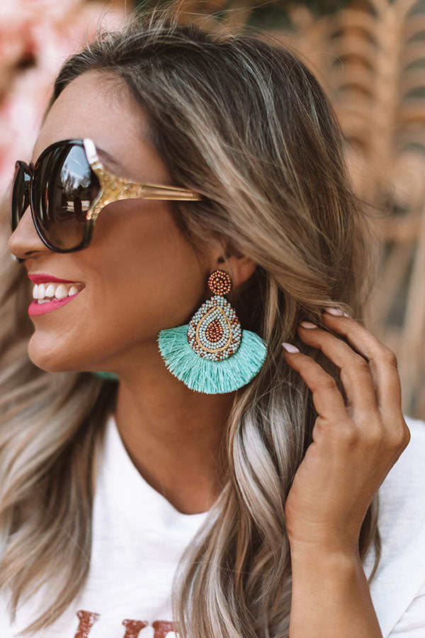 Better In Brighton Earrings In Turquoise