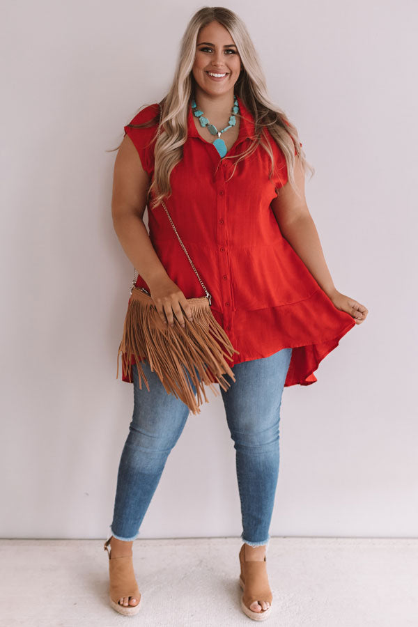 Bimini Bombshell Shift Tunic In Red