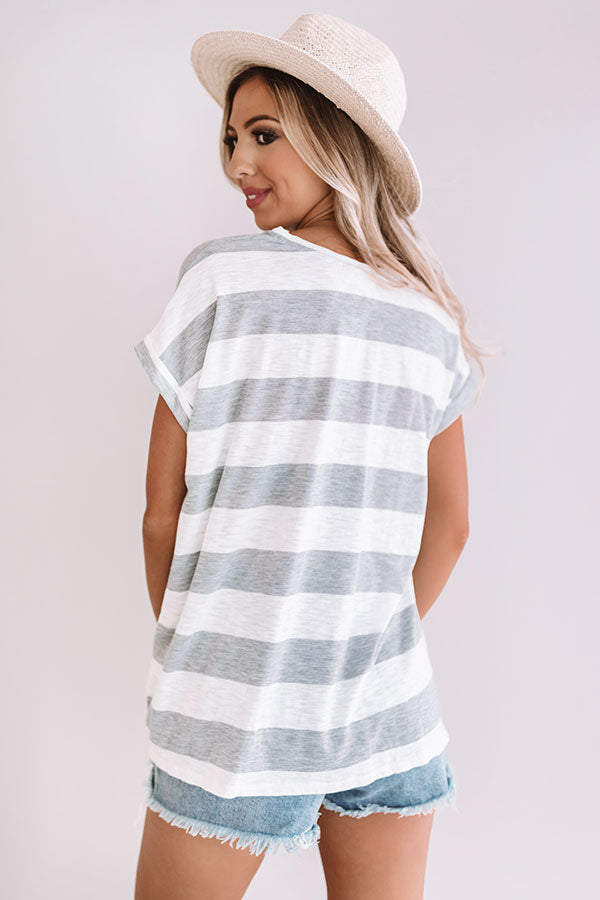 Draw The Line Shift Top In Grey