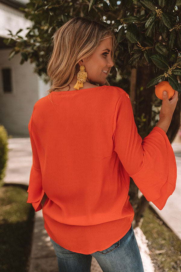 Penthouse Preferred Shift Top In Tangerine