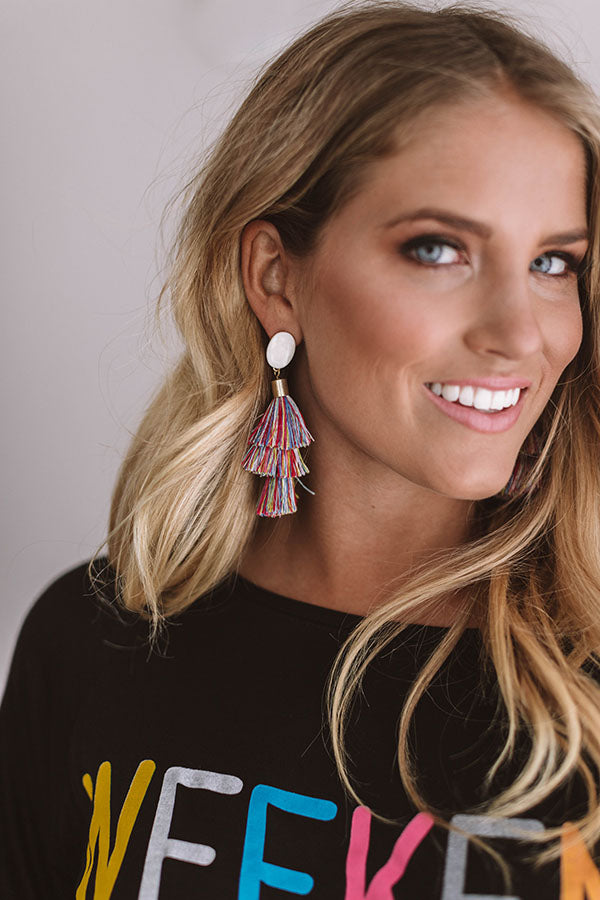 Haute Off The Press Earrings In Multi
