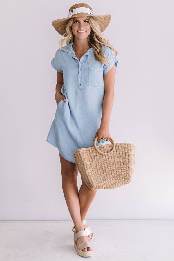 Road Trip To Cali Chambray Dress