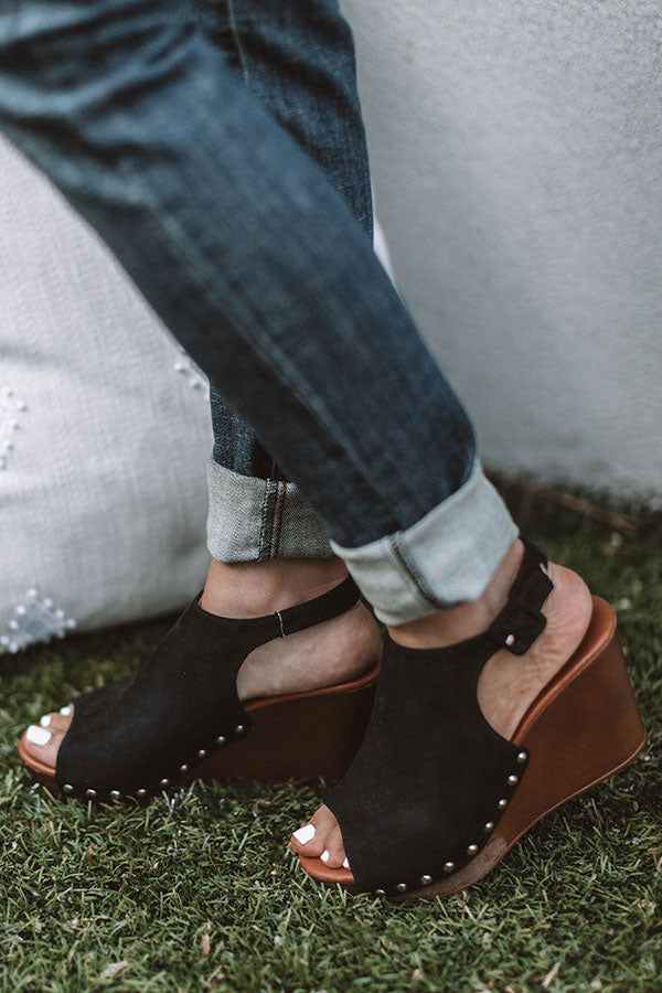 The Caleigh Wedge In Black