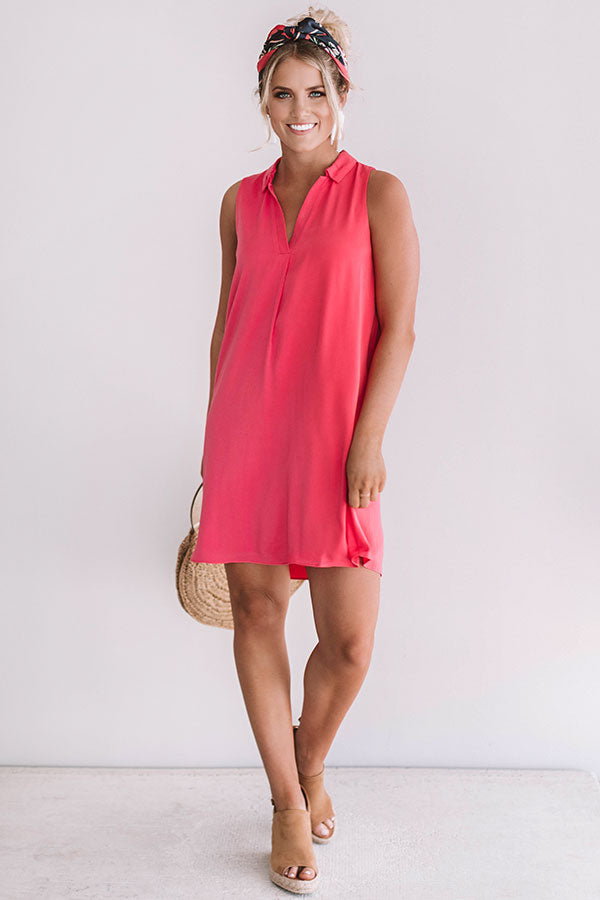 Romance In Rome Shift Dress In Calypso