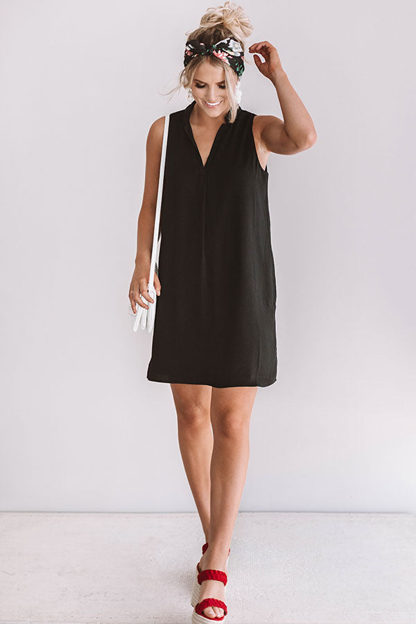 Romance In Rome Shift Dress In Black