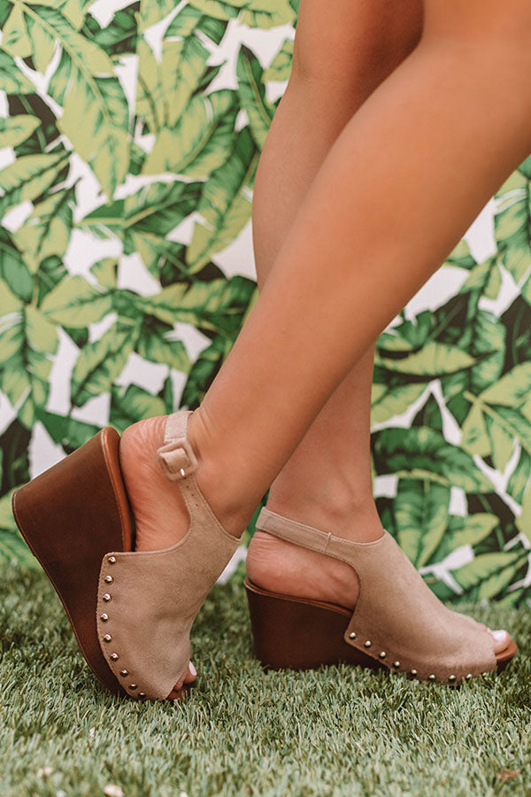 The Caleigh Wedge In Taupe