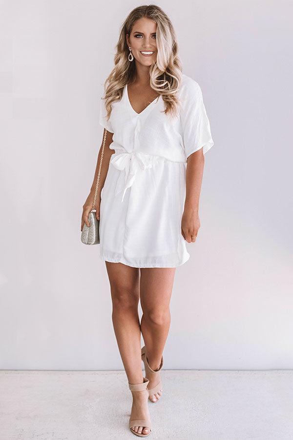 Darling Debut Dress In White