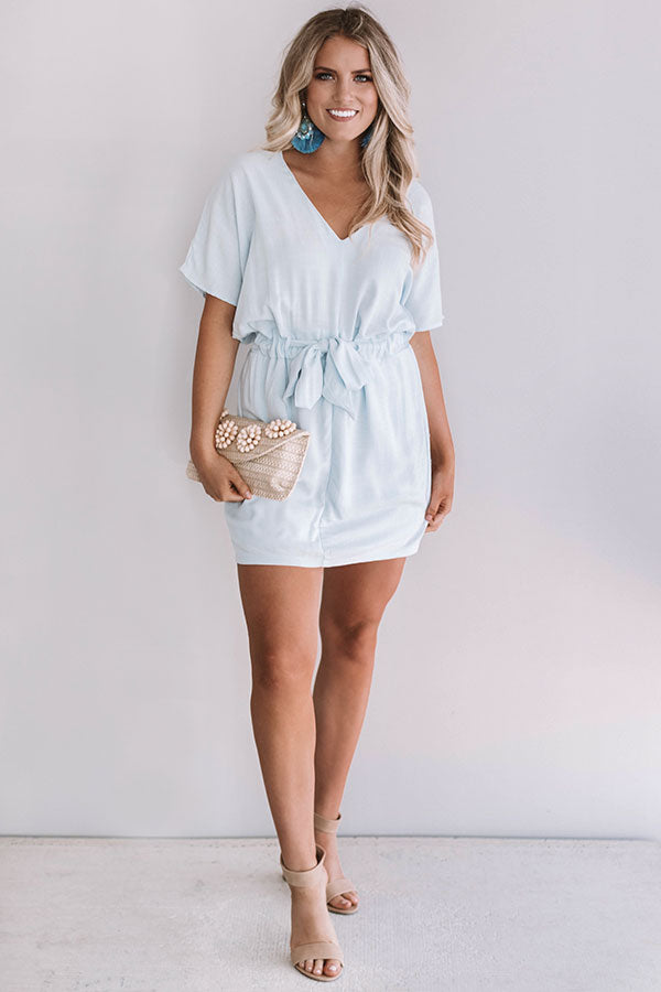 Darling Debut Dress In Sky Blue