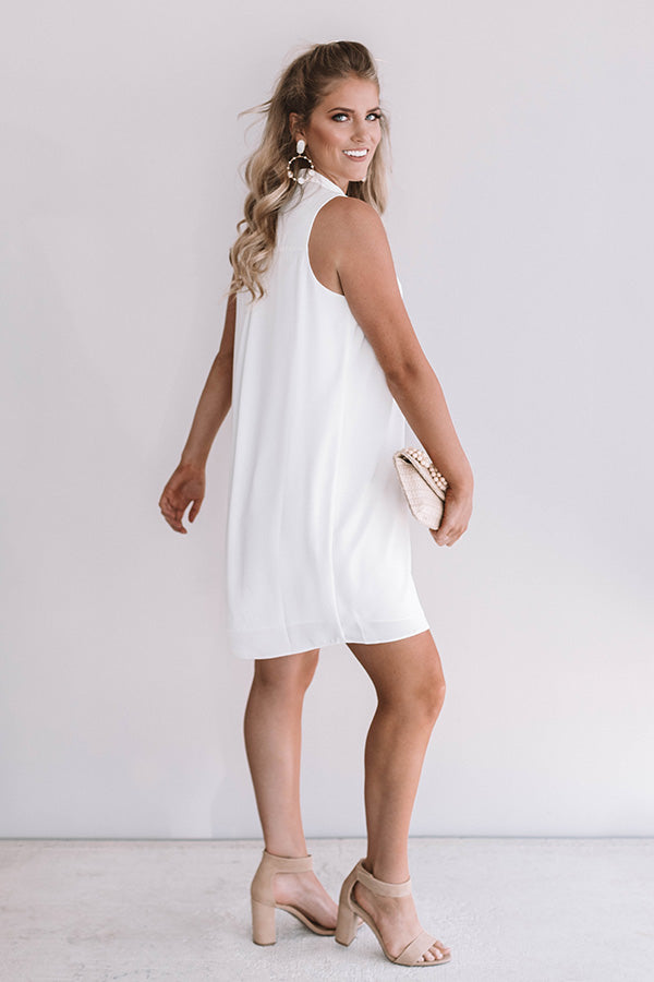 Romance In Rome Shift Dress In White