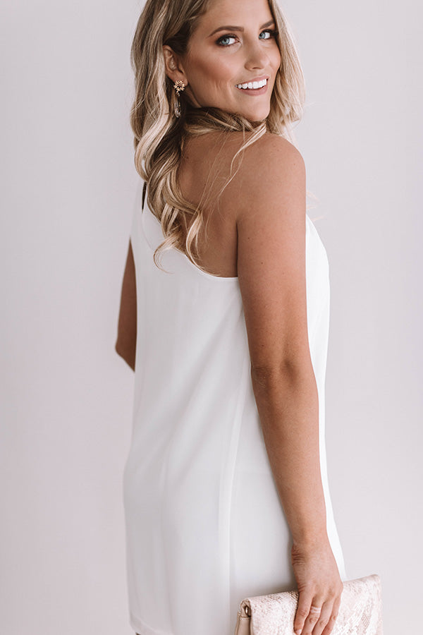 Vino, Yes Please Shift Dress in White