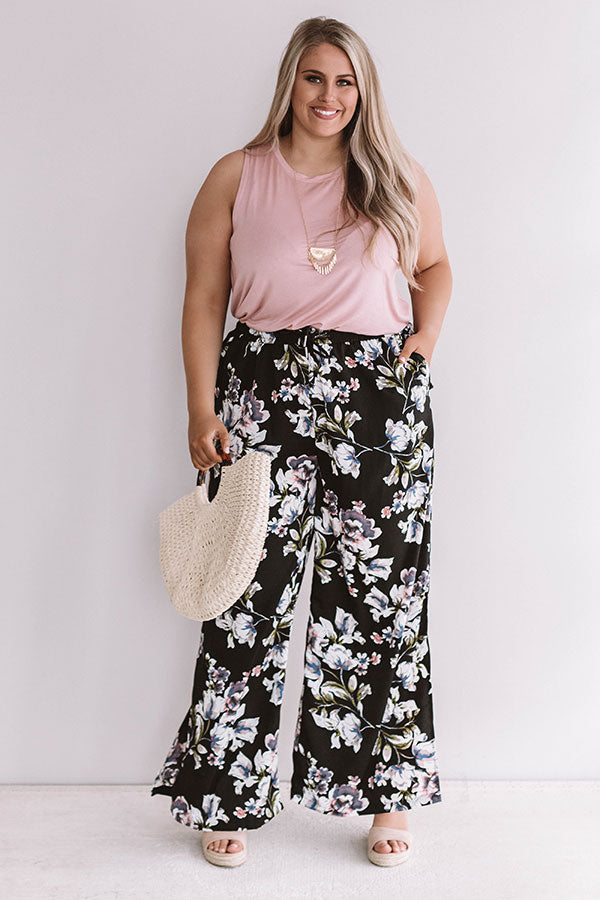 Passport To Paris Floral Pants