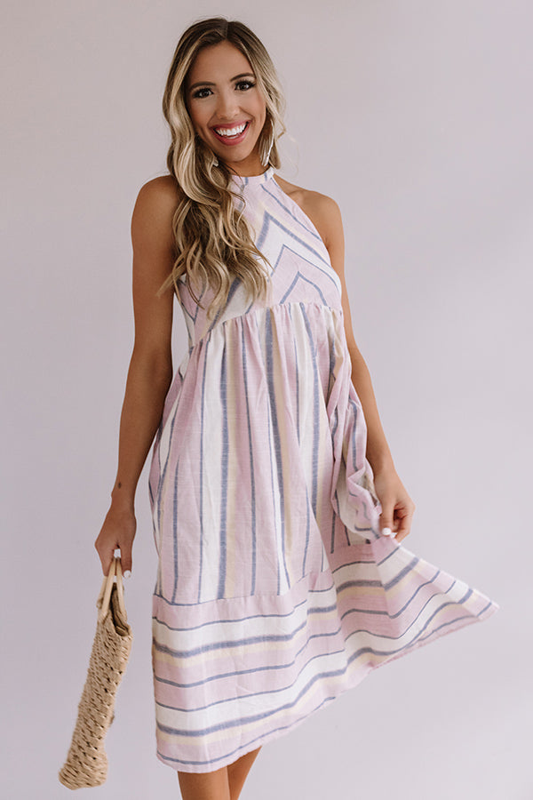 Daytime Dreamin' Stripe Midi in Dusty Purple