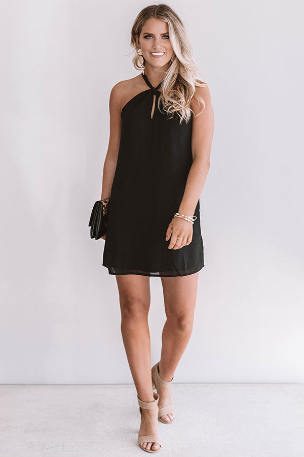 Vino, Yes Please Shift Dress in Black