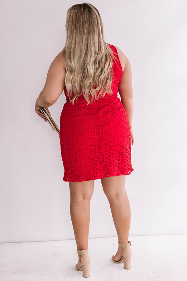 One of a Kind Crochet Dress in Red