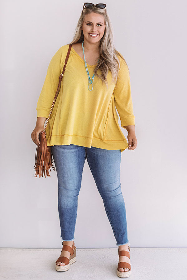 Easy Livin' Waffle Knit Top