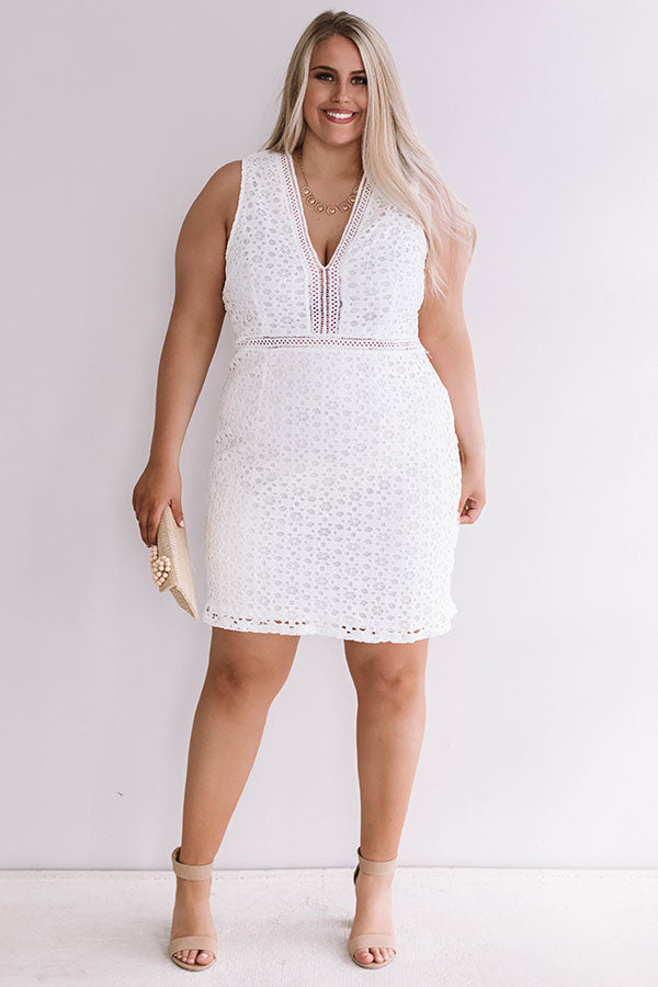 One of a Kind Crochet Dress in White