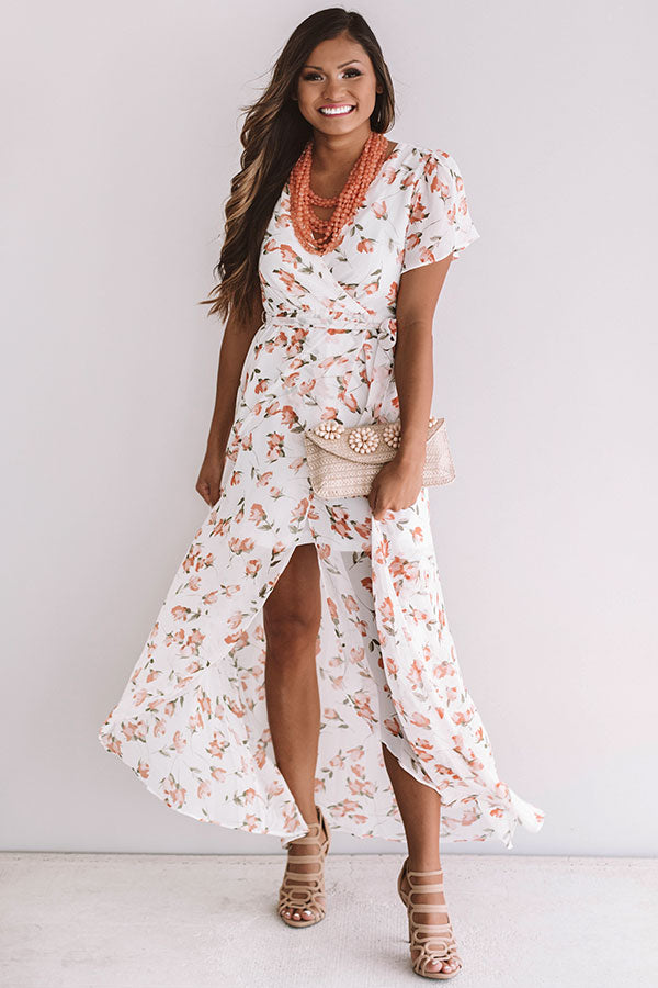 Parisian Getaway Faux Wrap Maxi Dress