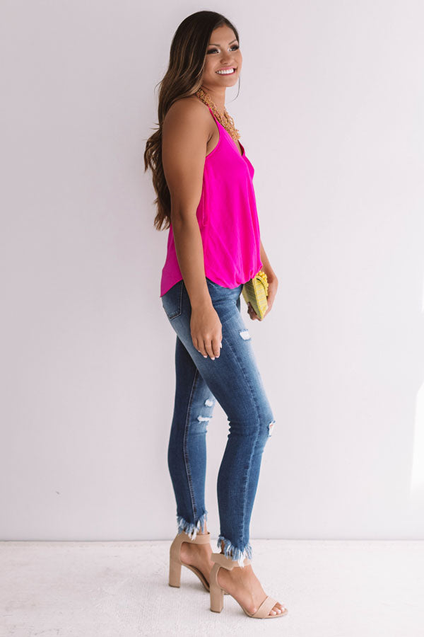 Heartbreaker Halter Top in Hot Pink