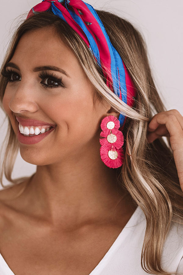 Sea And Serenity Earrings In Hot Pink