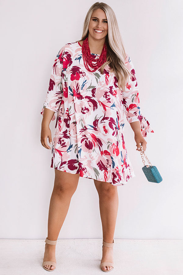 Central Park Perfection Floral Shift Dress