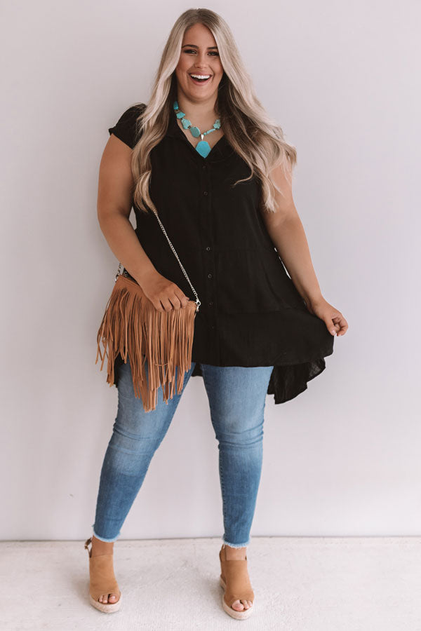 Bimini Bombshell Shift Tunic In Black
