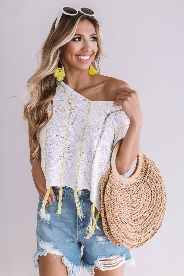 Seaside Strollin' Knit Top In White