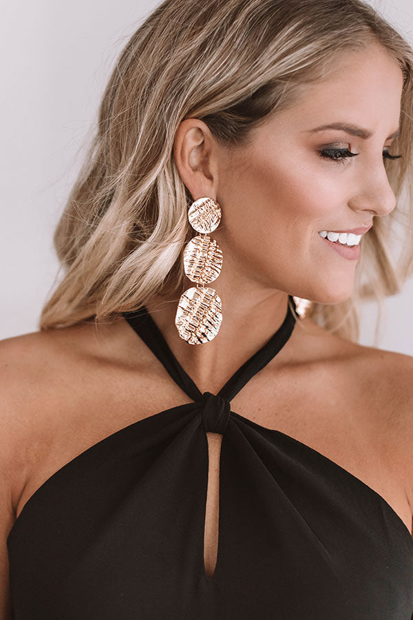 Dripping In Luxury Earrings in Gold