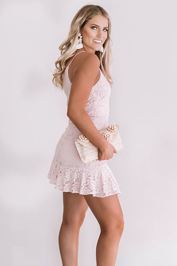 You're Still The One Lace Dress In Blush