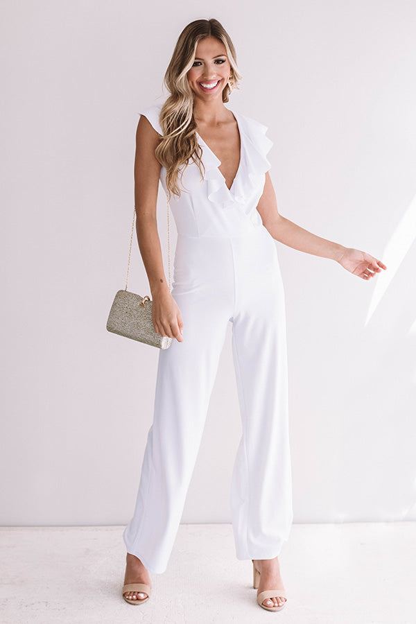 L.A. Lady Jumpsuit In White
