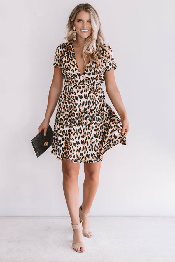 Wild And Free Leopard Wrap Dress