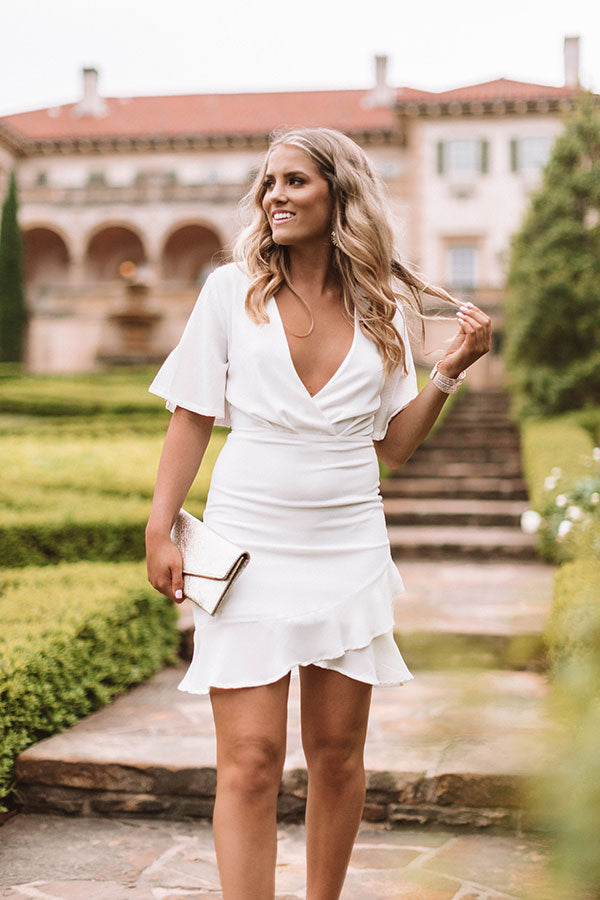 Effortless Luxury Dress In White