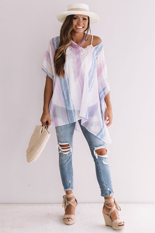 Call The Haute-Line Watercolor Tunic In Lavender