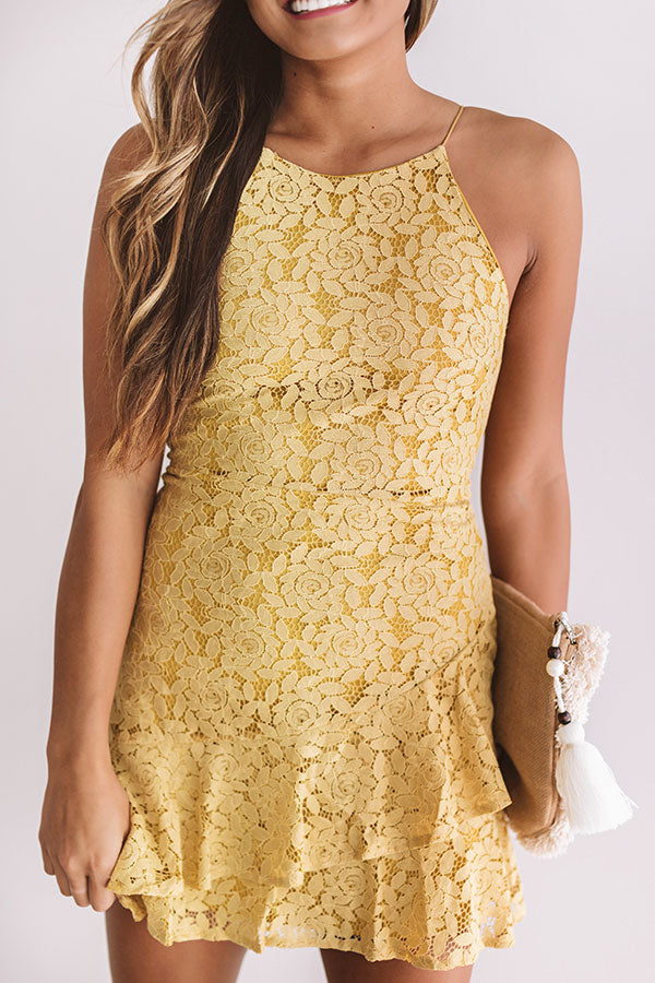 Your'e Still The One Lace Dress In Mustard